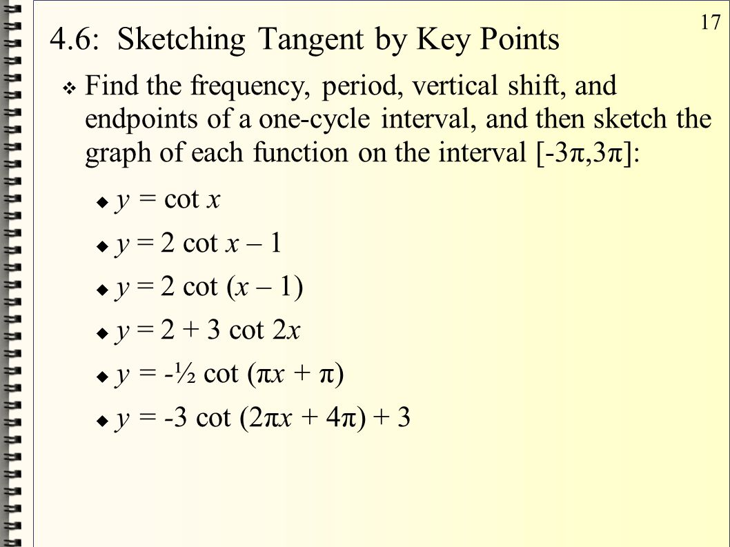 4.6: Sketching Tangent by Key Points
