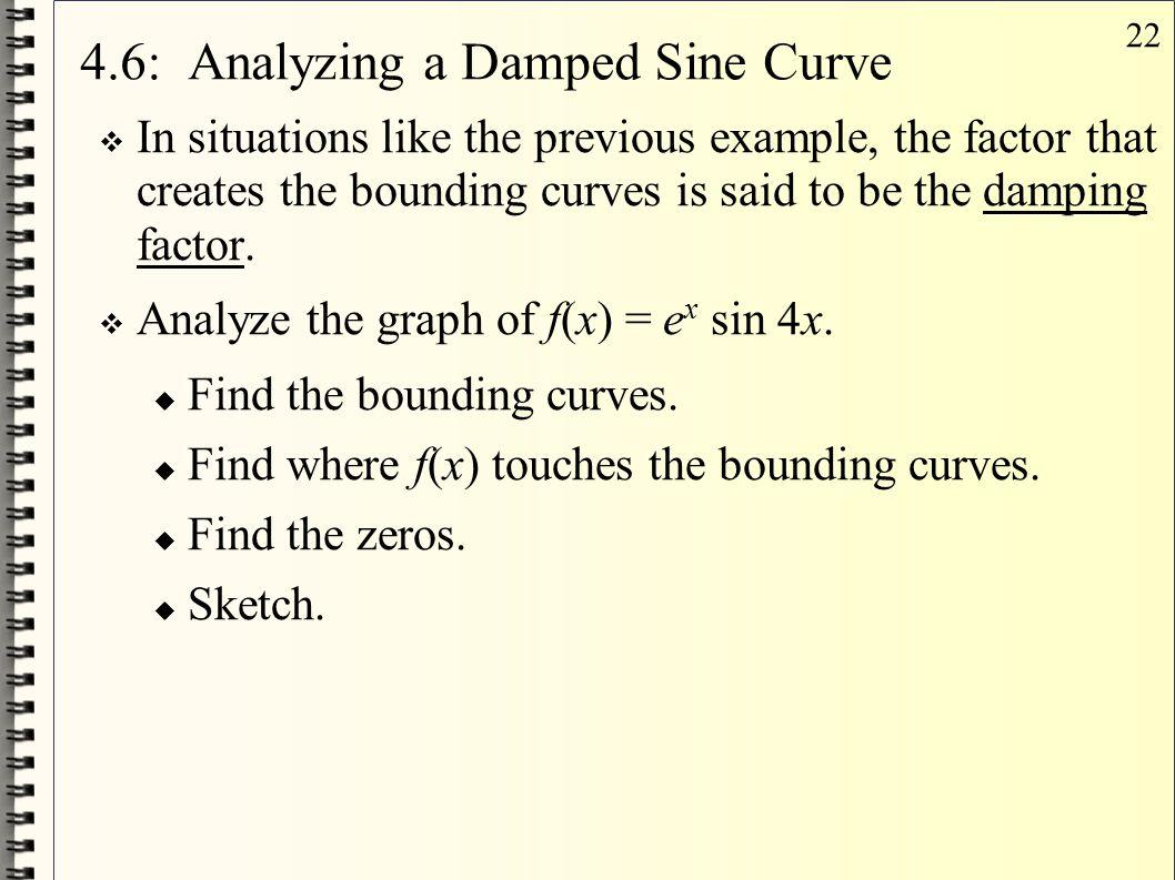 4.6: Analyzing a Damped Sine Curve