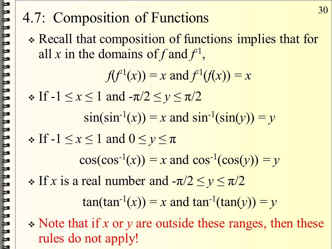 4.7: Composition of Functions