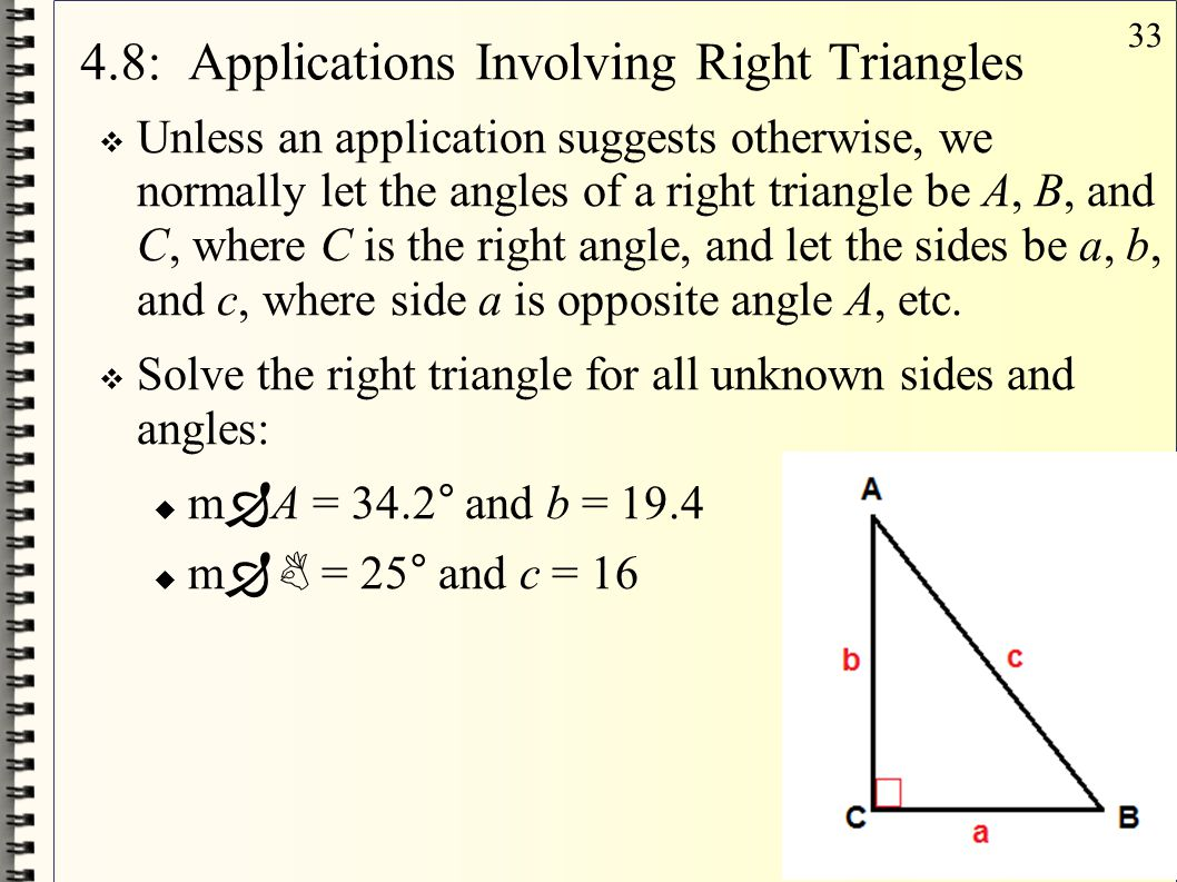 4.8: Applications Involving Right Triangles