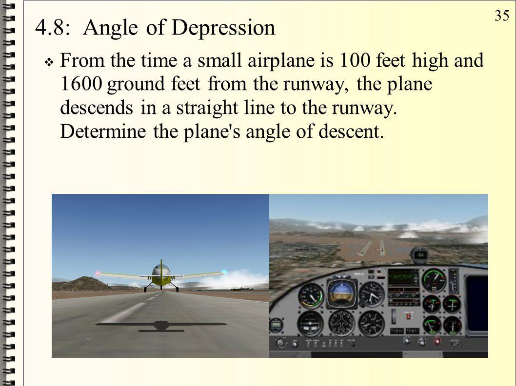 4.8: Angle of Depression