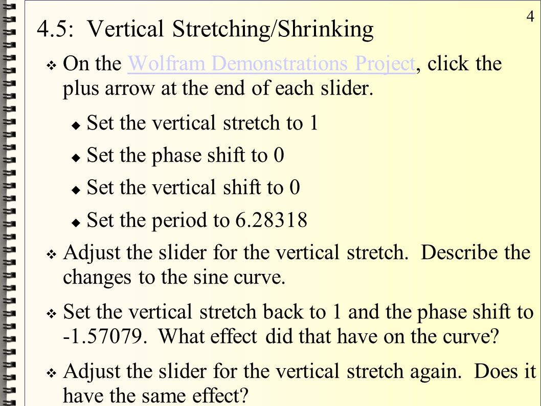 4.5: Vertical Stretching/Shrinking