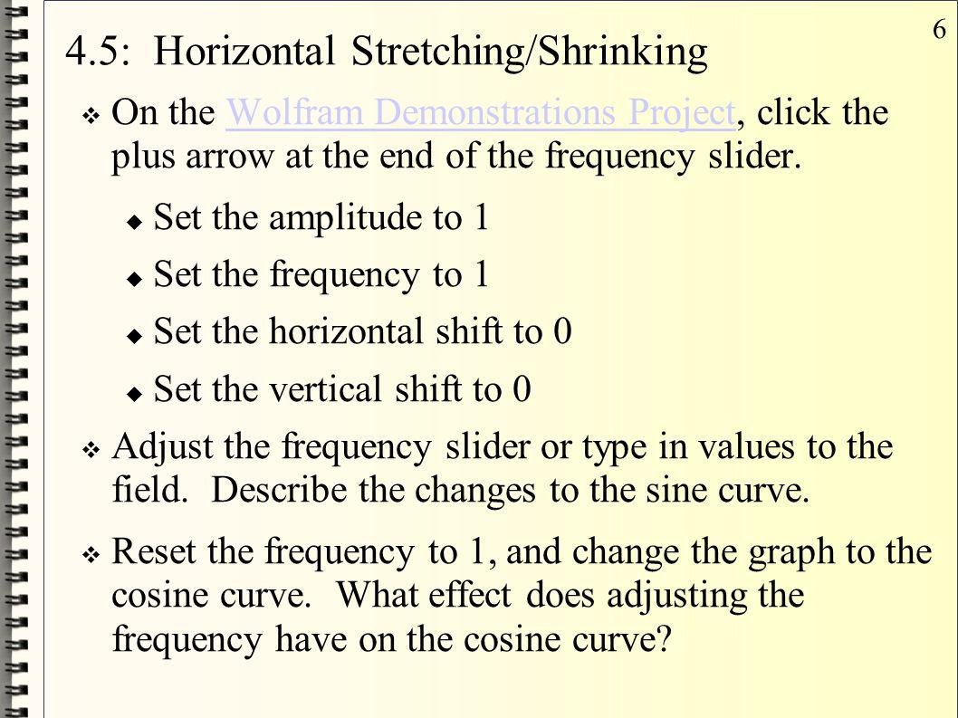 4.5: Horizontal Stretching/Shrinking