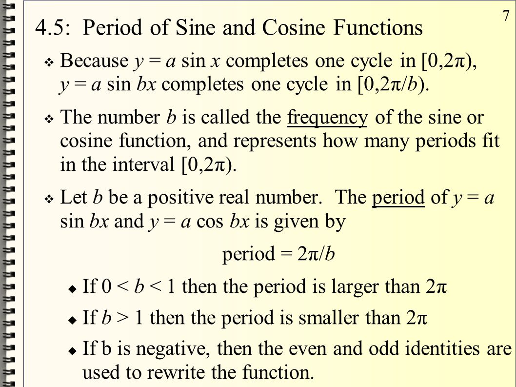 4.5: Period of Sine and Cosine Functions