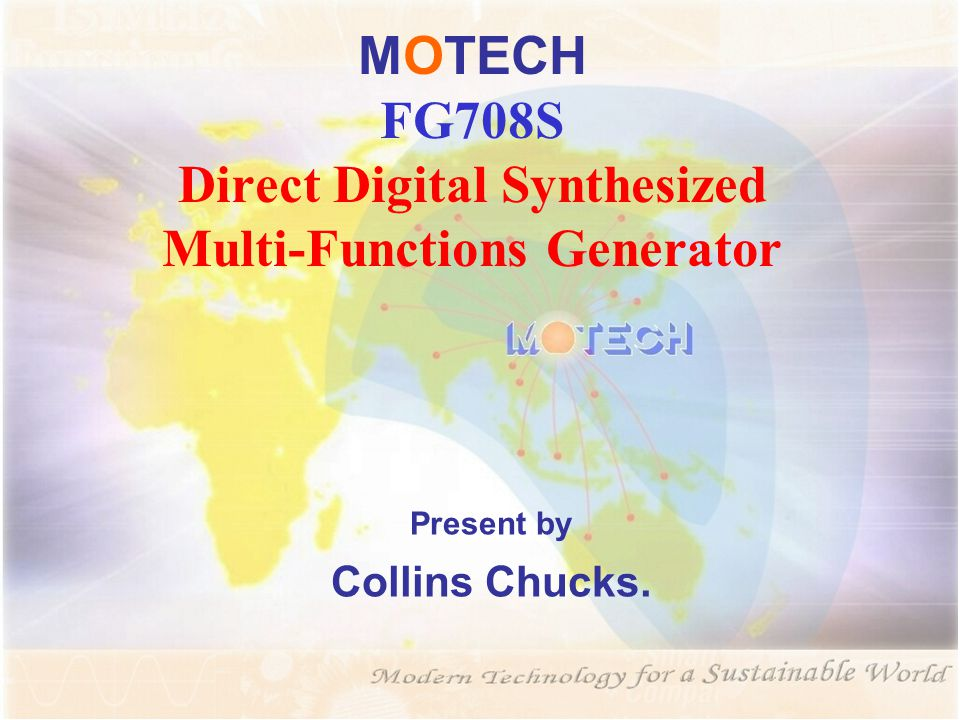MOTECH FG708S Direct Digital Synthesized Multi-Functions Generator