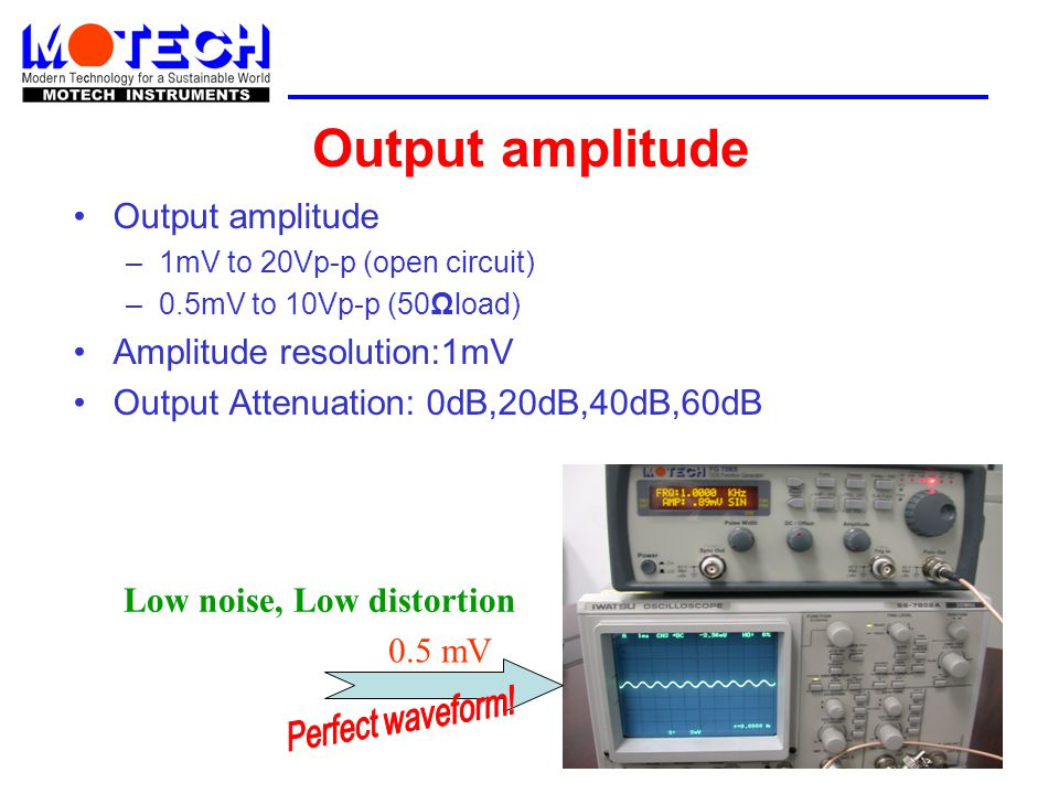 Output amplitude Output amplitude Amplitude resolution:1mV