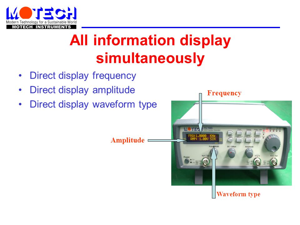 All information display simultaneously