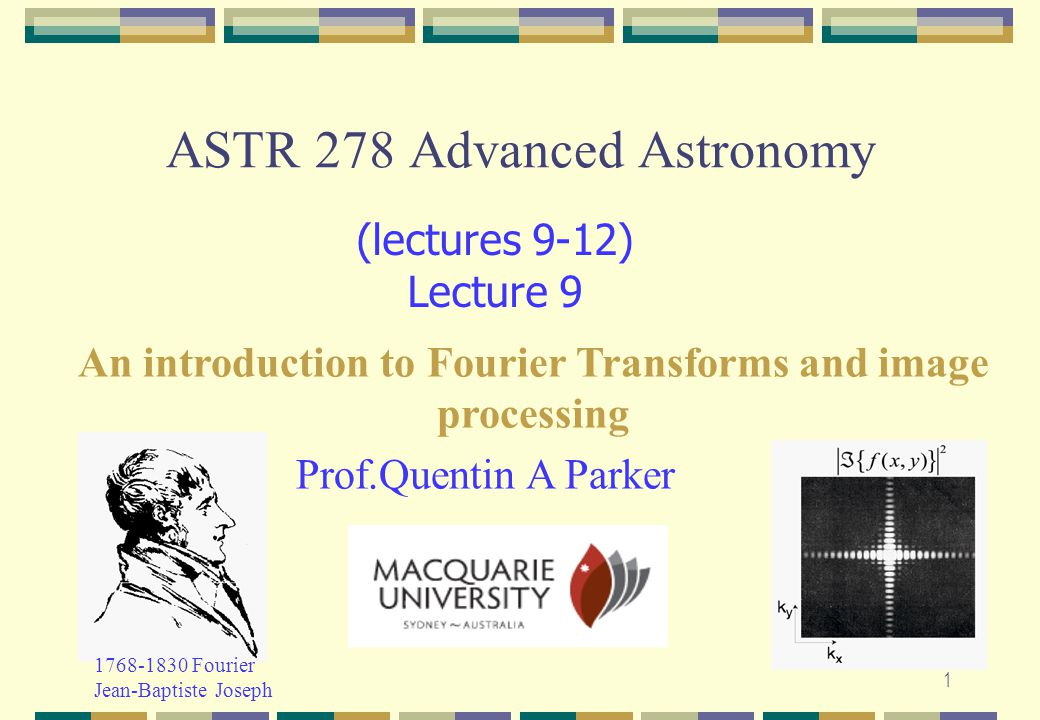 ASTR 278 Advanced Astronomy