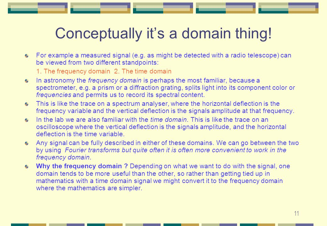 Conceptually it's a domain thing!
