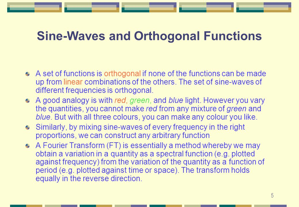 Sine-Waves and Orthogonal Functions
