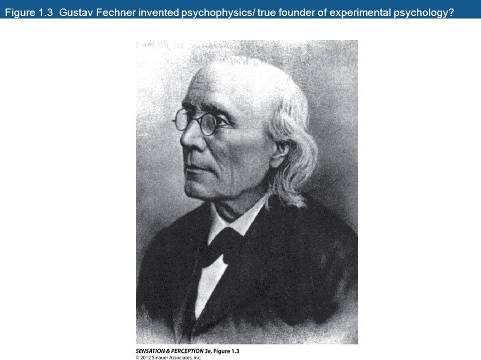Figure 1.3 Gustav Fechner invented psychophysics/ true founder of experimental psychology
