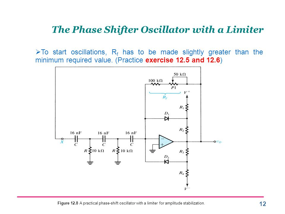 The Phase Shifter Oscillator with a Limiter