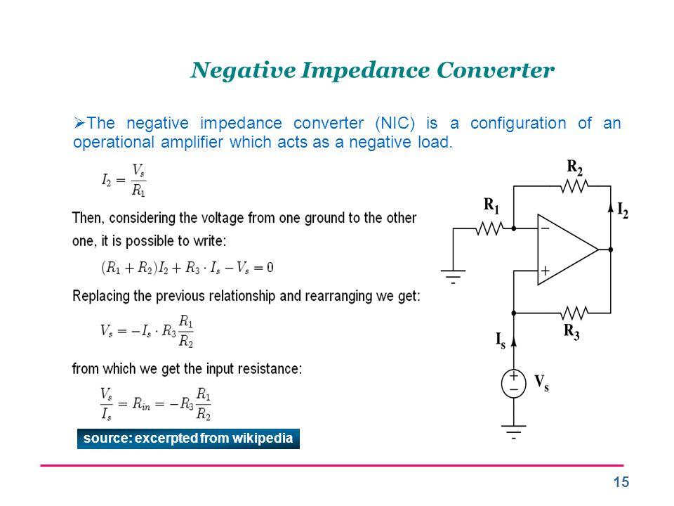 Negative Impedance Converter