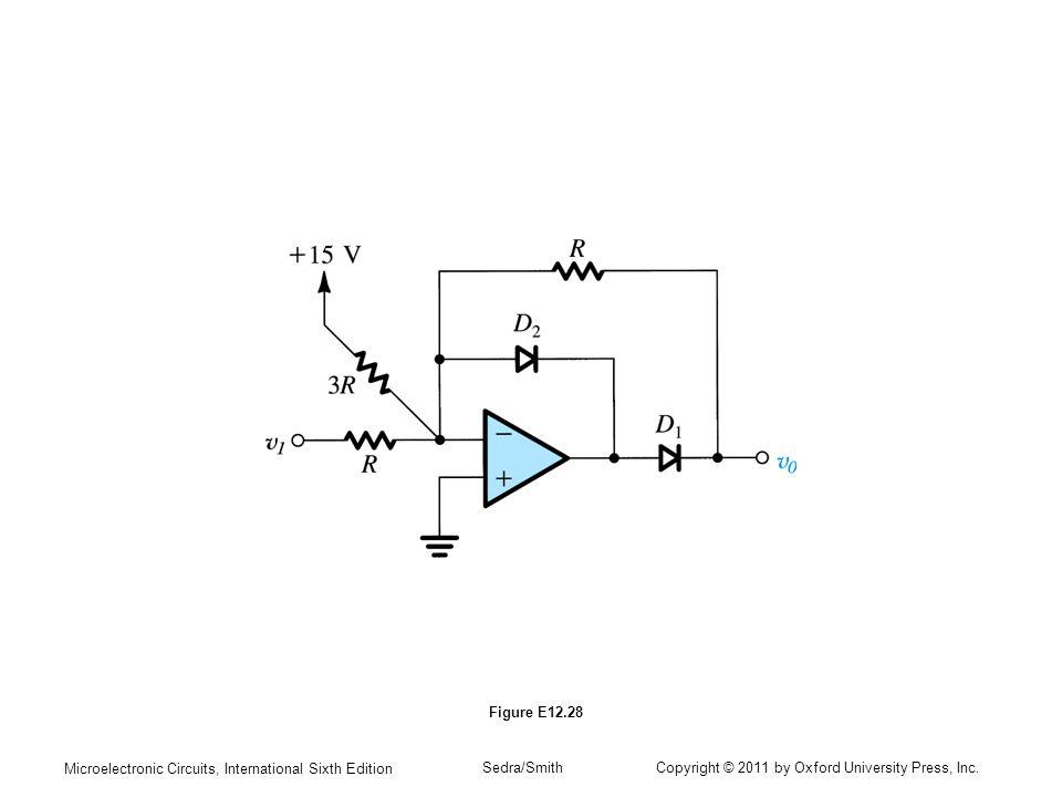 Figure E12.28 Microelectronic Circuits, International Sixth Edition.