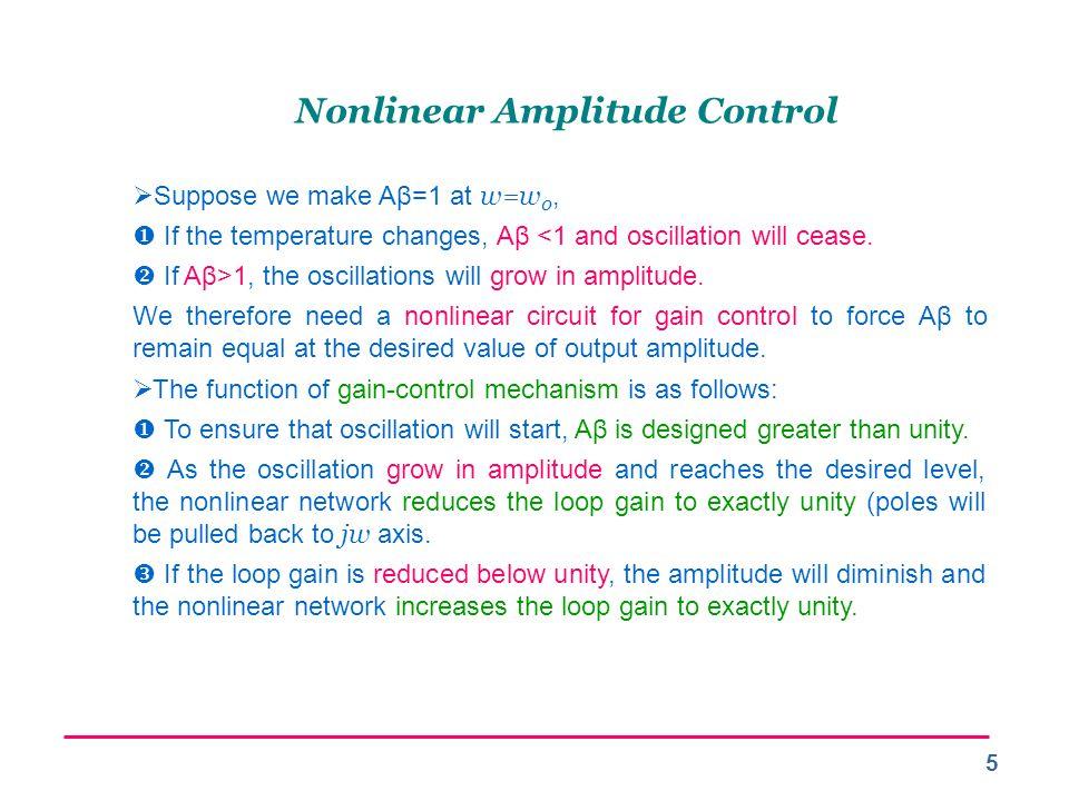 Nonlinear Amplitude Control