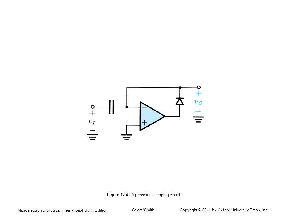 Figure 12.41 A precision clamping circuit.