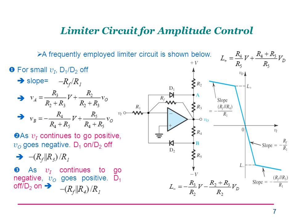 Limiter Circuit for Amplitude Control