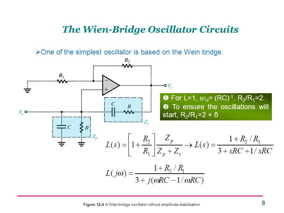 The Wien-Bridge Oscillator Circuits