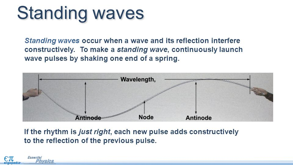 how to make a standing wave in a river