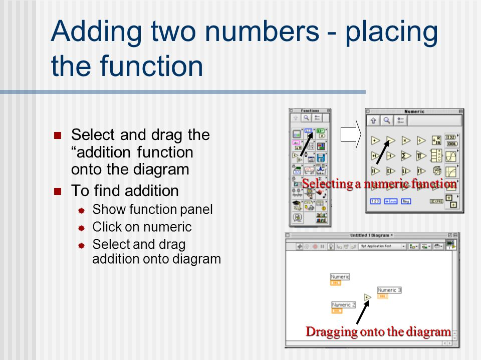 Adding two numbers - placing the function