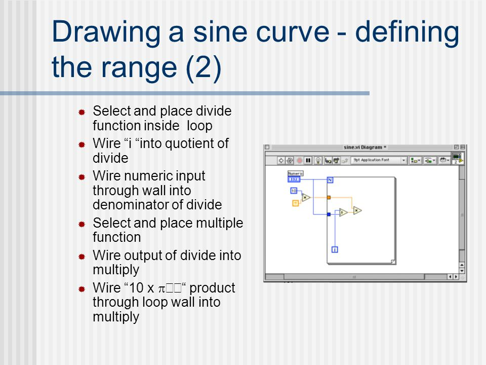 Drawing a sine curve - defining the range (2)