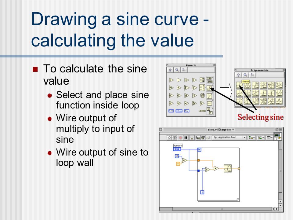 Drawing a sine curve - calculating the value