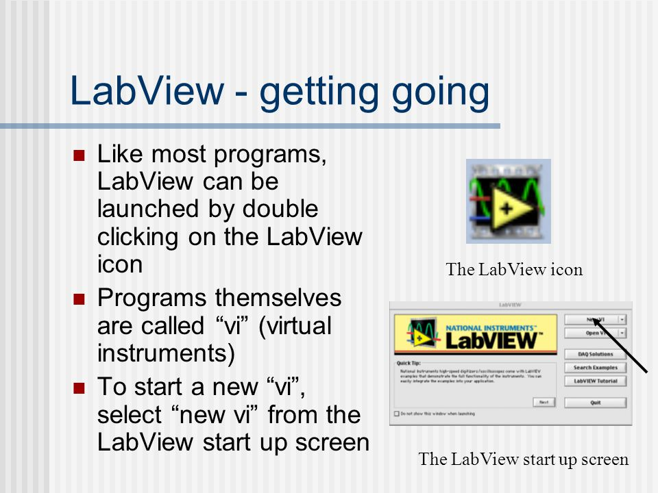 LabView - getting going