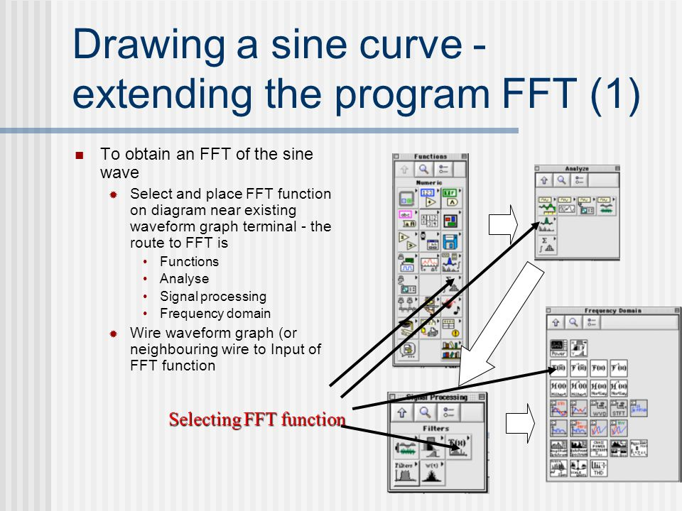 Drawing a sine curve - extending the program FFT (1)