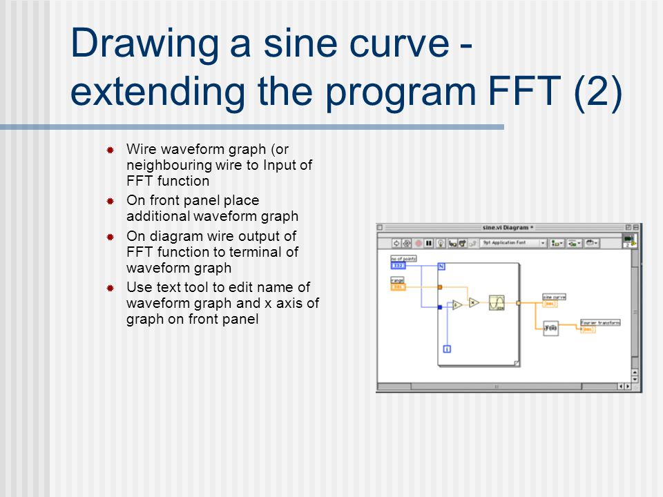 Drawing a sine curve - extending the program FFT (2)