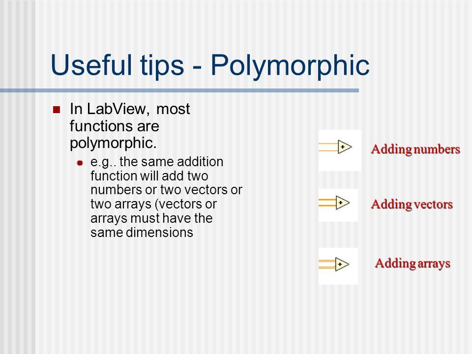 Useful tips - Polymorphic