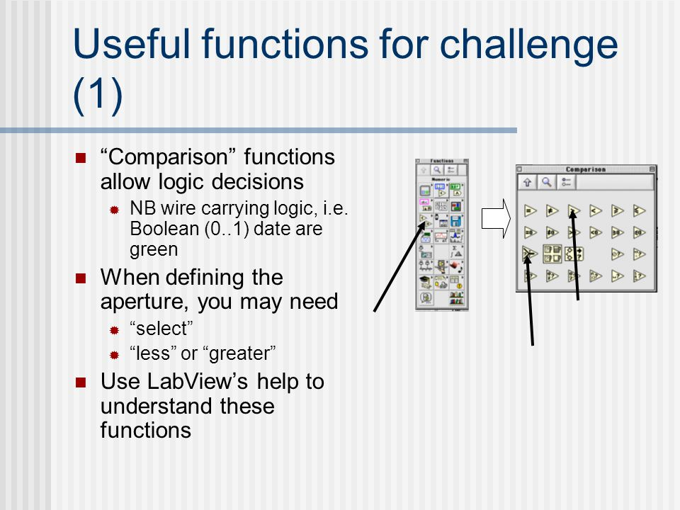 Useful functions for challenge (1)
