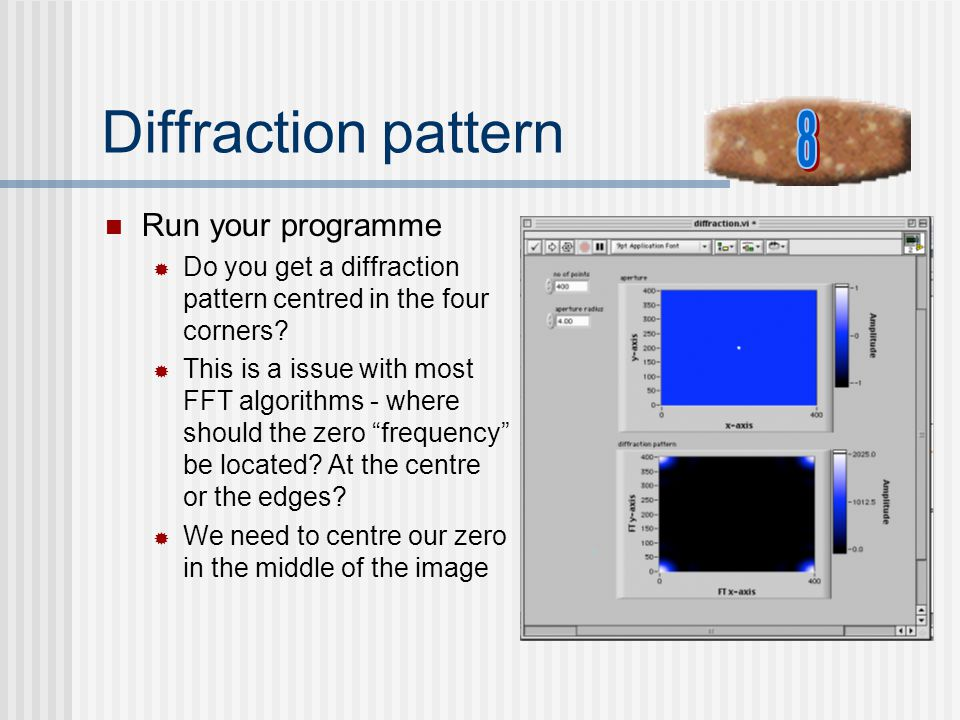 Diffraction pattern 8 Run your programme