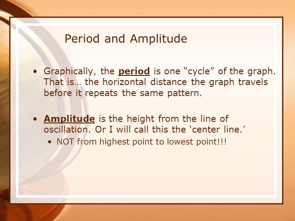 Period and Amplitude