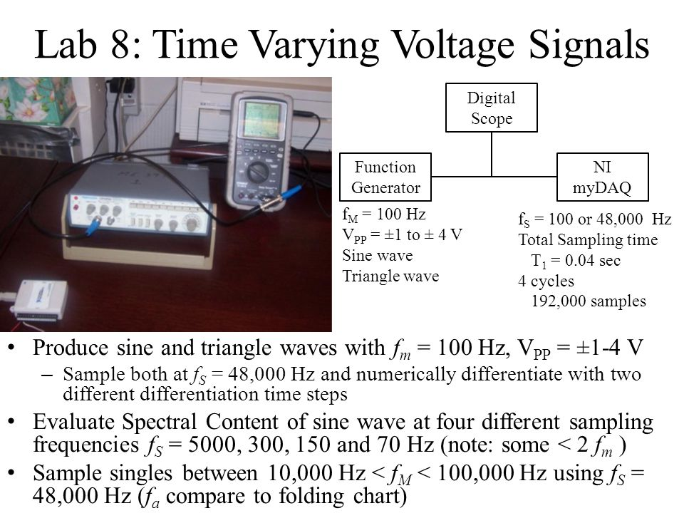 Lab 8: Time Varying Voltage Signals