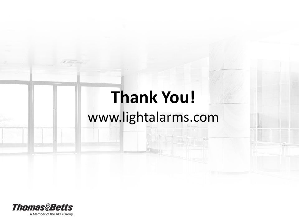 Thank You! www.lightalarms.com