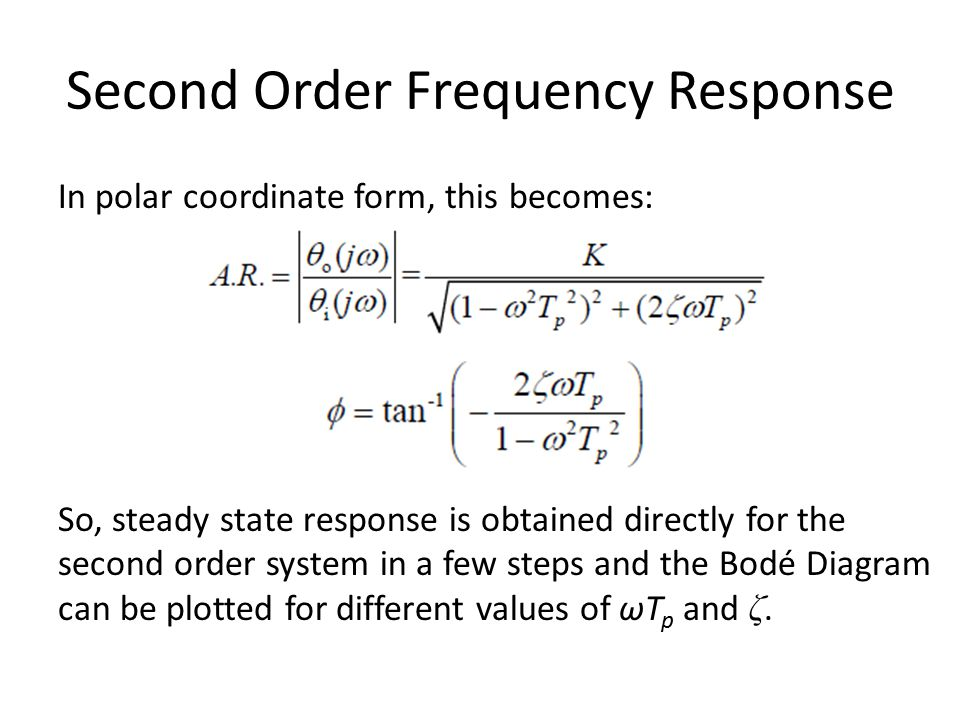 Second Order Frequency Response