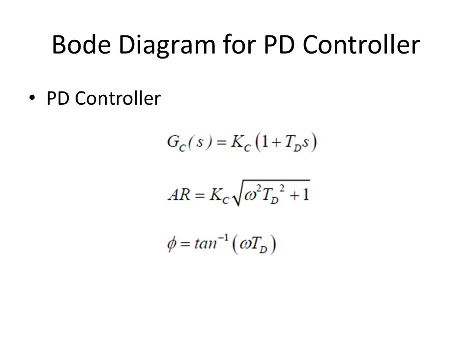 Bode Diagram for PD Controller