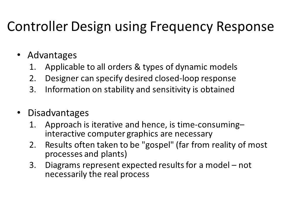 Controller Design using Frequency Response