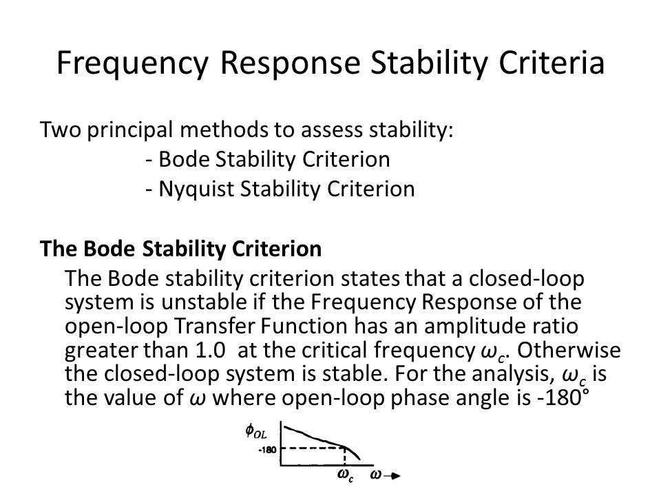 Frequency Response Stability Criteria