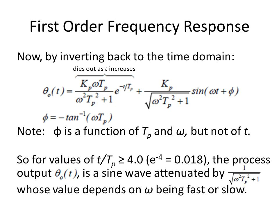 First Order Frequency Response