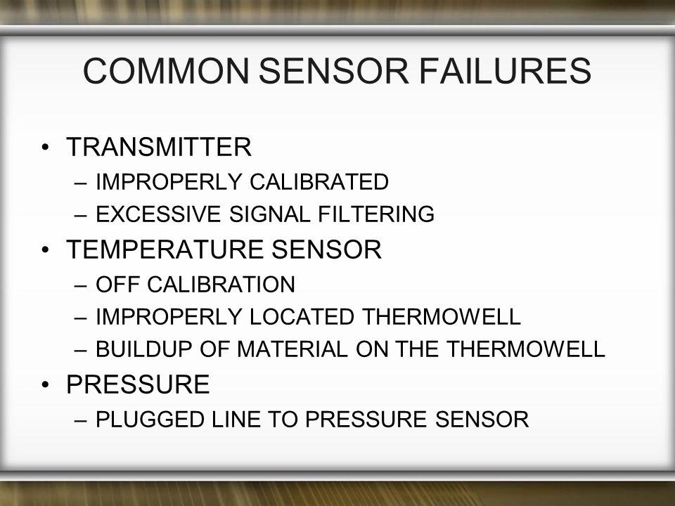 Common Sensor Failures