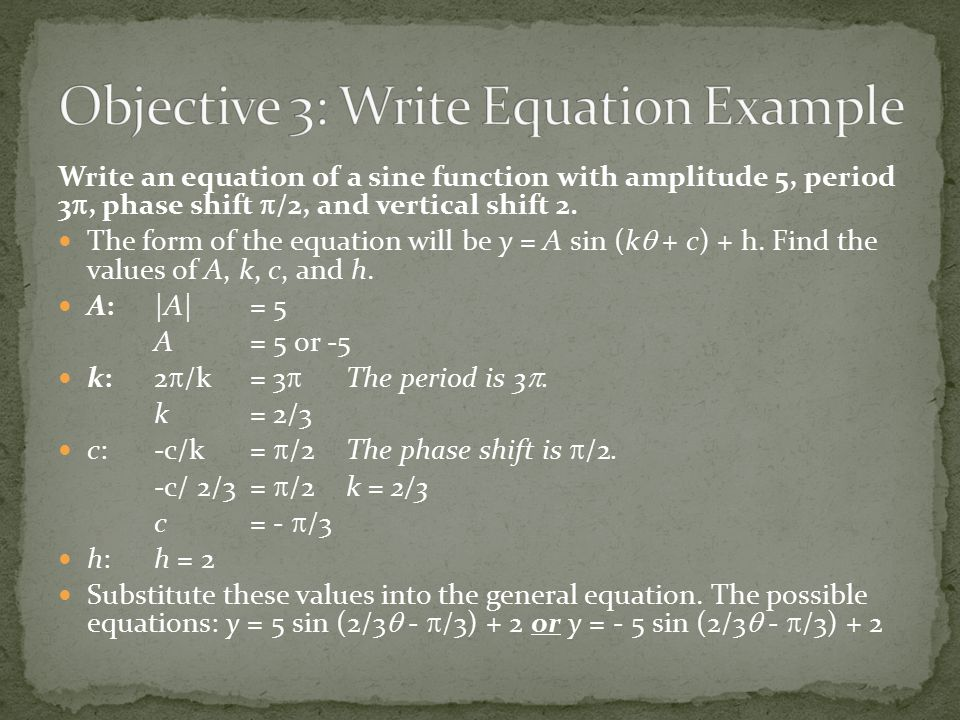 Objective 3: Write Equation Example