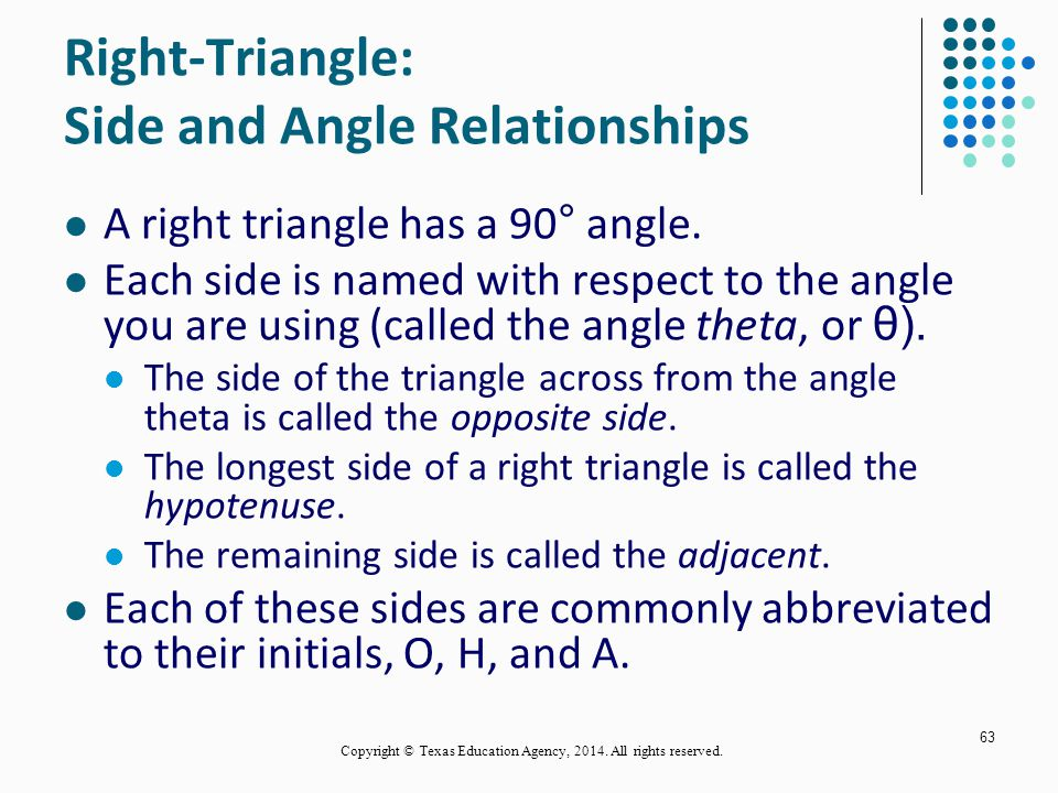 Right-Triangle: Side and Angle Relationships