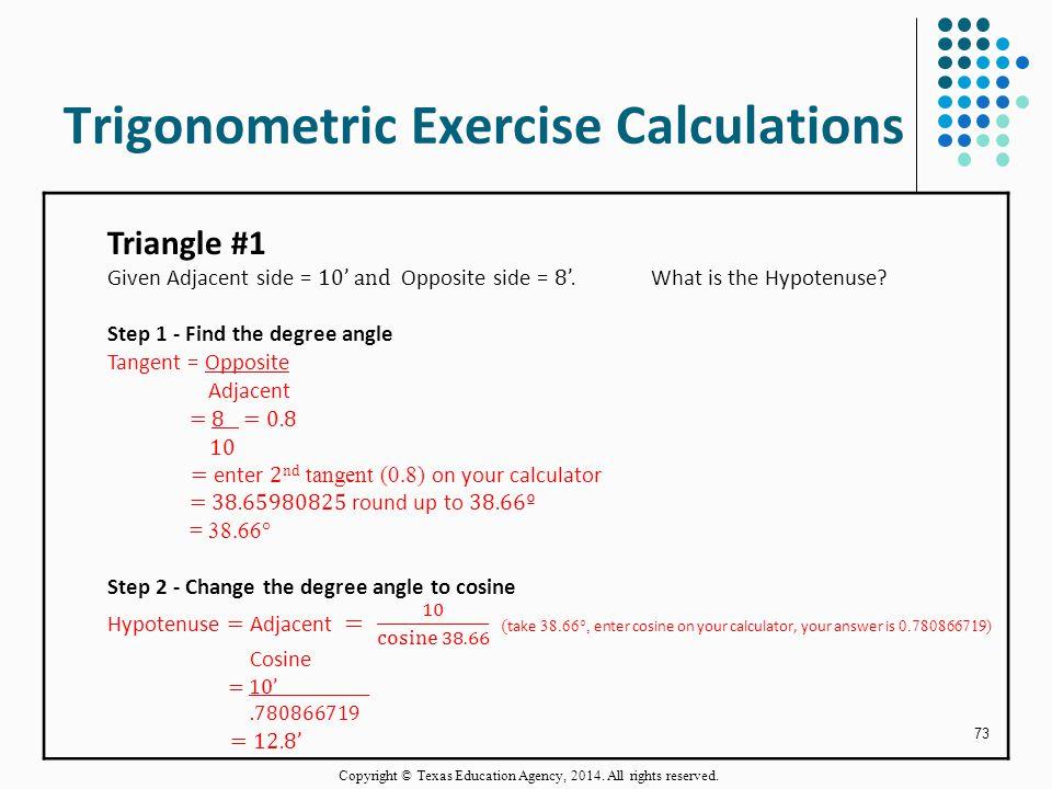 Trigonometric Exercise Calculations