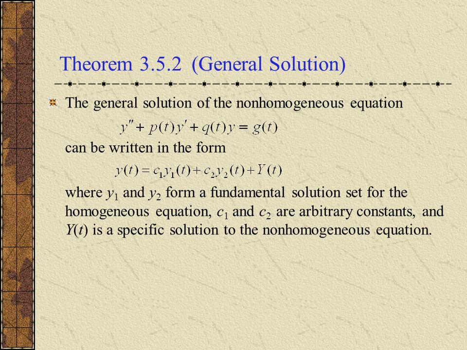 Theorem 3.5.2 (General Solution)