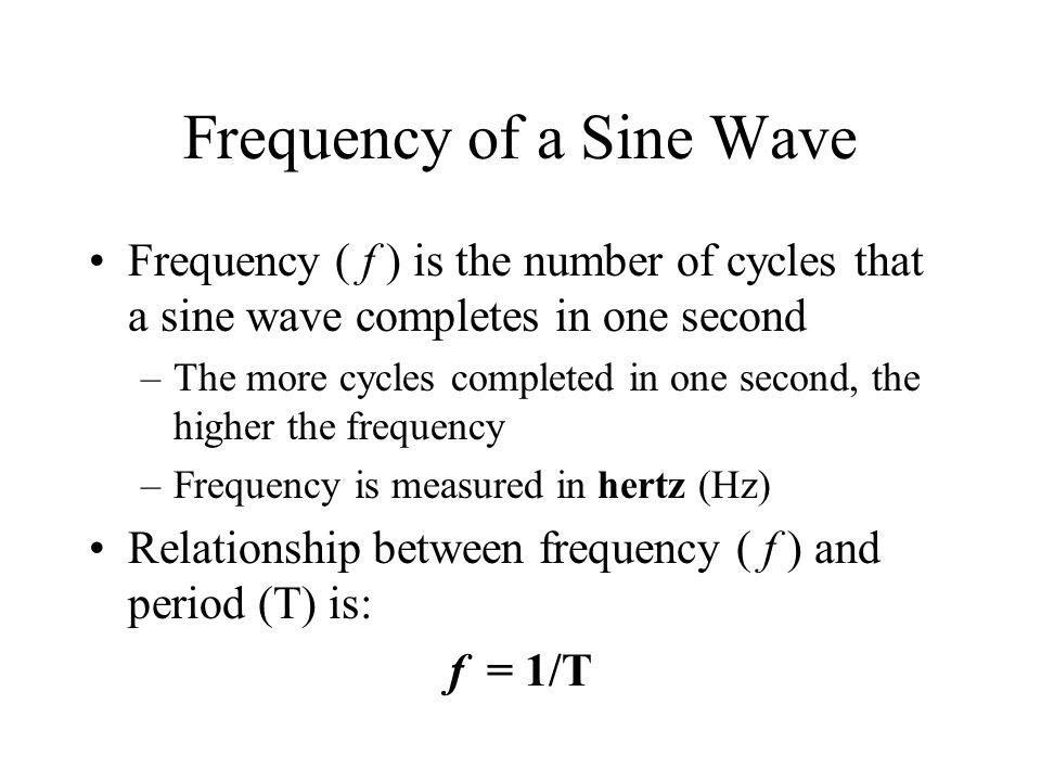 Frequency of a Sine Wave