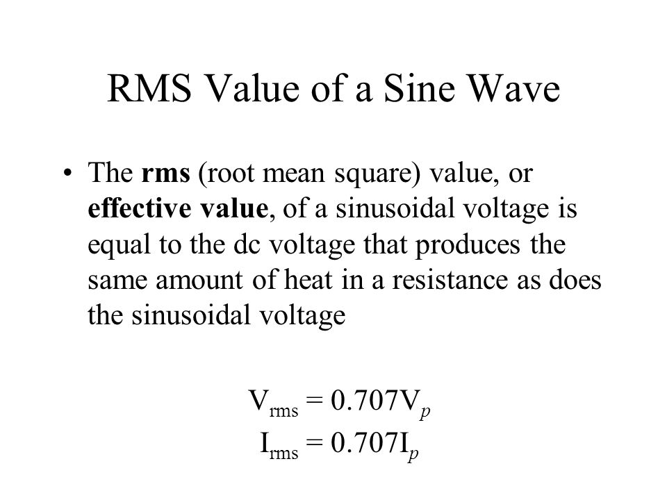 RMS Value of a Sine Wave