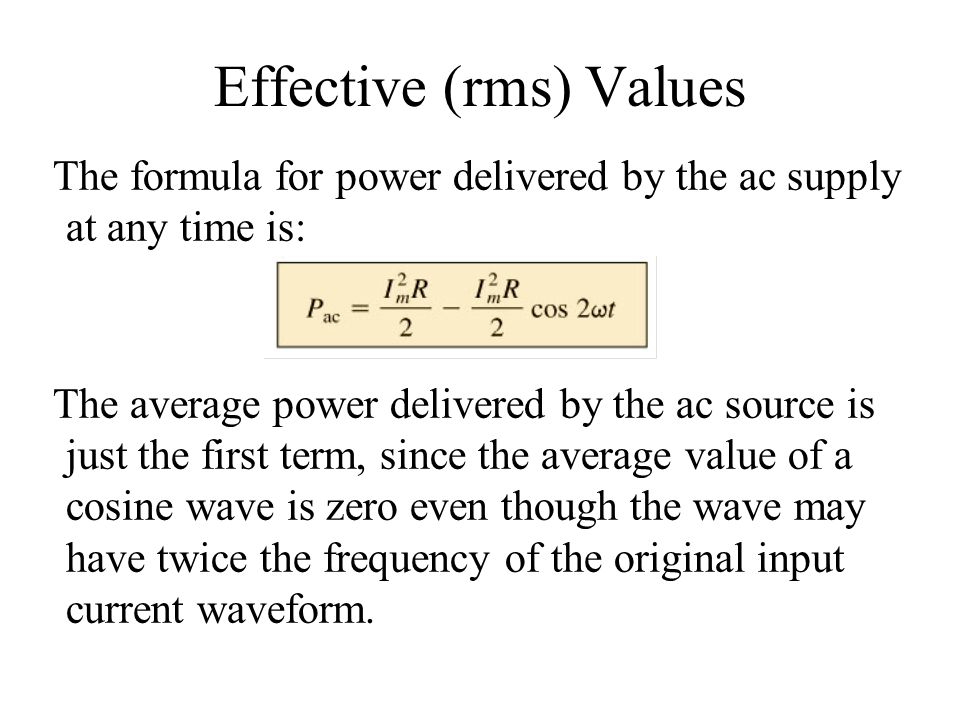 Effective (rms) Values