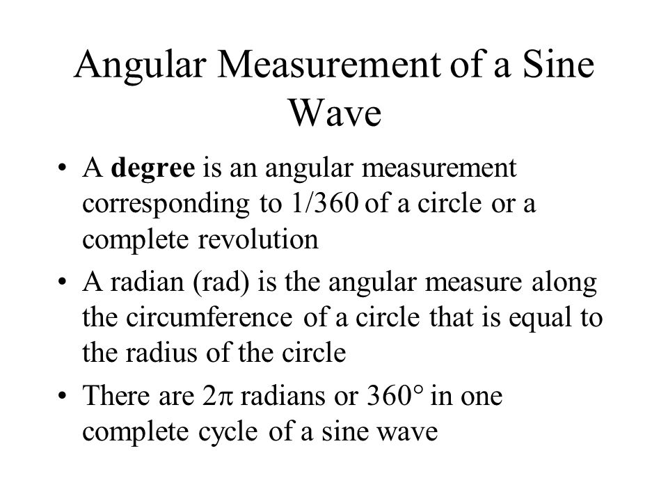 Angular Measurement of a Sine Wave