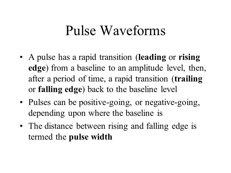 Pulse Waveforms